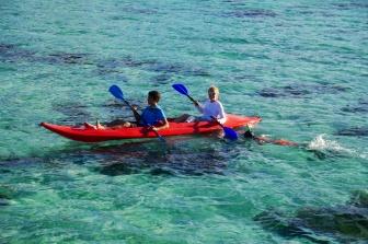 Nathan and Shellie kayaking
