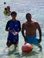 Nathan and Neerav snorkeling