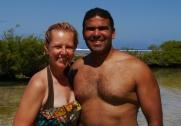 Shellie and Neerav at Lagoonarium