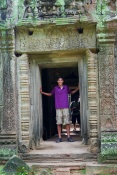Nathan inside Ta Prohm