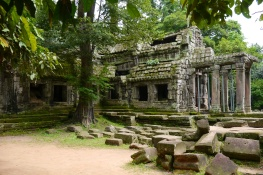 Side view of the east entrance to Ta Prohm