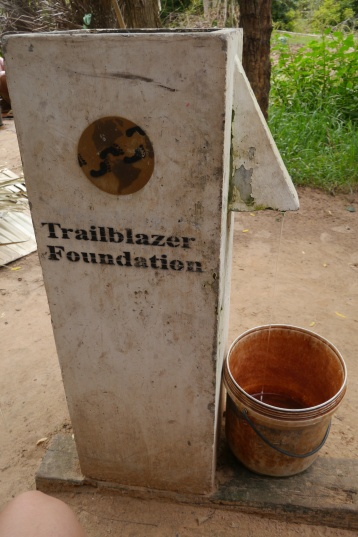 This water filtration system, supplied by at New York-based NGO, removes the rust (and bugs) from the water.